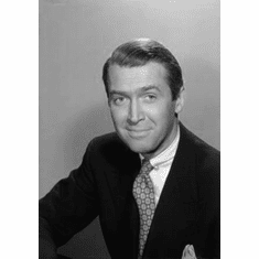 "James Stewart Black and White Poster 24""x36"""