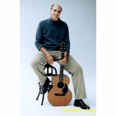 James Taylor Poster With Guitar 24inx36in