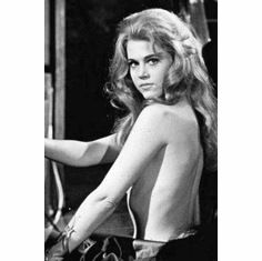 "Jane Fonda Black and White Poster 24""x36"""