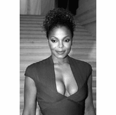 """Janet Jackson Black and White Poster 24""""x36"""""""