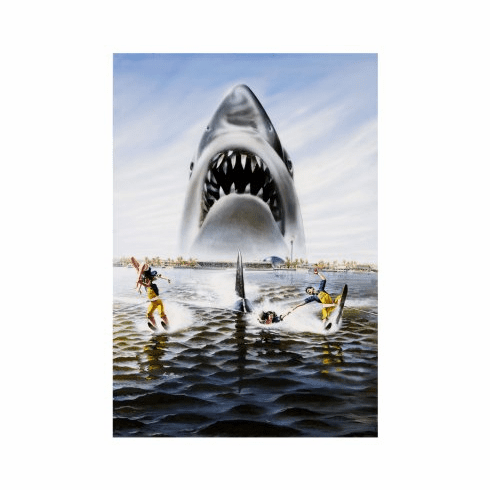 Jaws 3D Movie Poster 24x36 textless art
