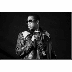 "Jay Z Black and White Poster 24""x36"""