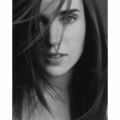 """Jennifer Connelly Black and White Poster 24""""x36"""""""