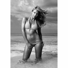 "Jessica Alba Black and White Poster 24""x36"""