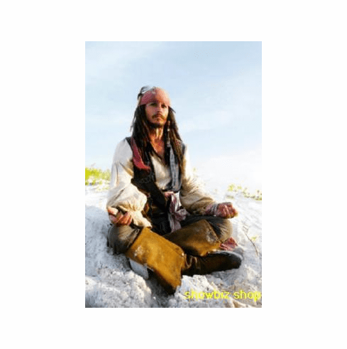Johnny Depp Poster Meditating Capt Jack Sparrow Pirates Caribbean 24inx36in