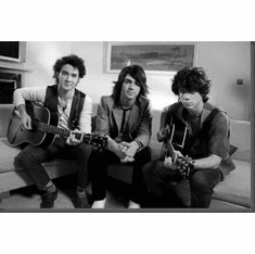 "Jonas Brothers Black and White Poster 24""x36"""