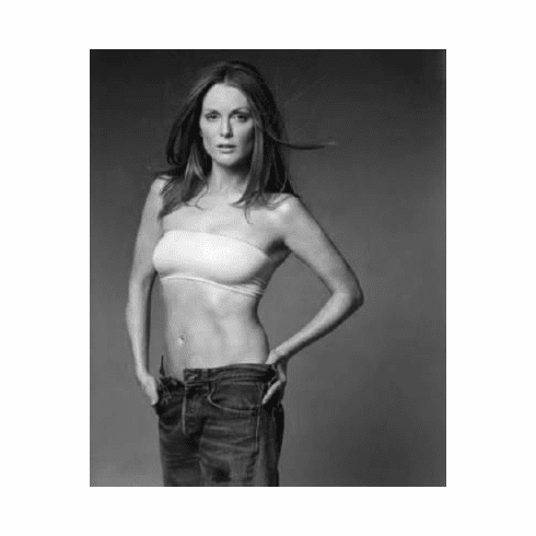 "Julianne Moore Black and White Poster 24""x36"""