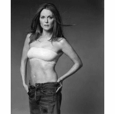 """Julianne Moore Black and White Poster 24""""x36"""""""