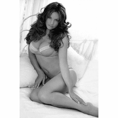 """Kelly Brook Black and White Poster 24""""x36"""""""