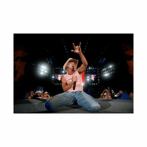 Kenny Chesney Poster On Stage 24in x36 in