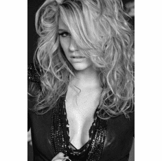 "Kesha Ke$Ha Black and White Poster 24""x36"""
