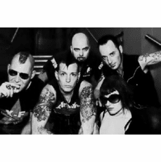 """Kmfdm Black and White Poster 24""""x36"""""""