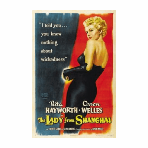 Lady From Shanghai Movie Poster 24inx36in