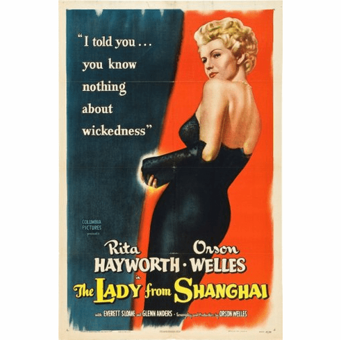 Lady From Shanghai The Movie Poster 24inx36in