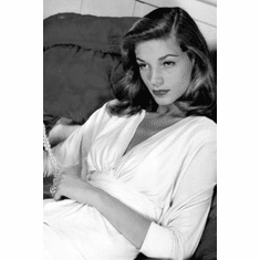 """Lauren Bacall Black and White Poster 24""""x36"""""""
