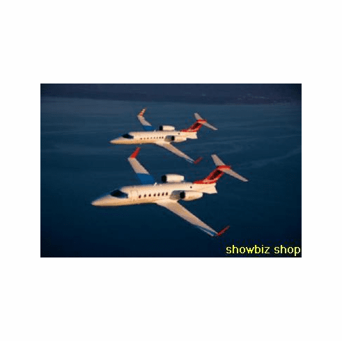 Lear Jet Poster Flying 24inx36in