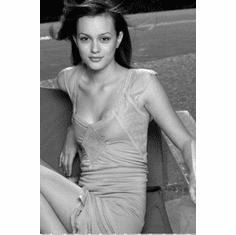 "Leighton Meester Black and White Poster 24""x36"""