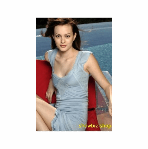 Leighton Meester Poster Blue Dress 24inx36in