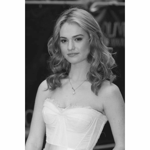 "Lily James Black and White Poster 24""x36"""