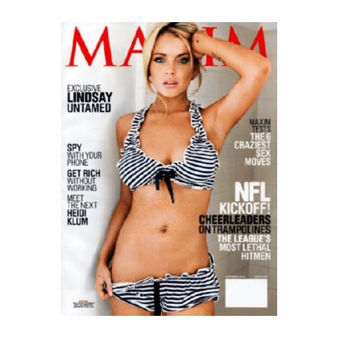 Lindsay Lohan Maxim Poster Magazine Cover 24inx36in