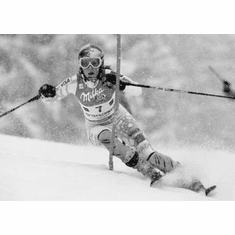 "Lindsey Vonn Black and White Poster 24""x36"""