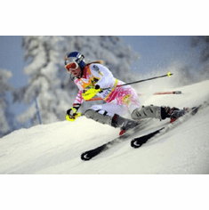 Lindsey Vonn Poster Action Skiing 24inx36in