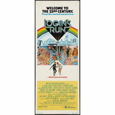 Logans Run Movie Poster Insert 14x36