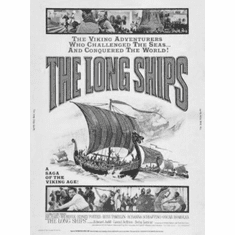 """Long Ships Black and White Poster 24""""x36"""""""