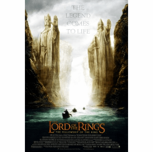 Lord Of The Rings Fellowship Of The Ring Movie Poster 24inx36in