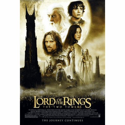 Lord Of The Rings Two Towers Movie Poster 24inx36in