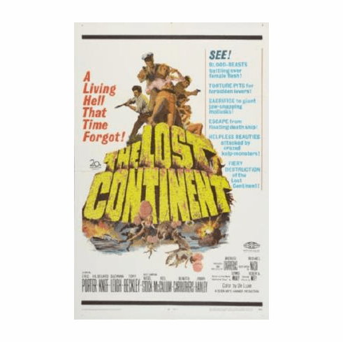 Lost Continent The Movie Poster 24inx36in