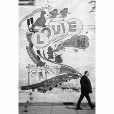 """Louie Black and White Poster 24""""x36"""""""