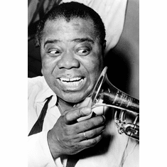 Louis Armstrong Poster 24inx36in