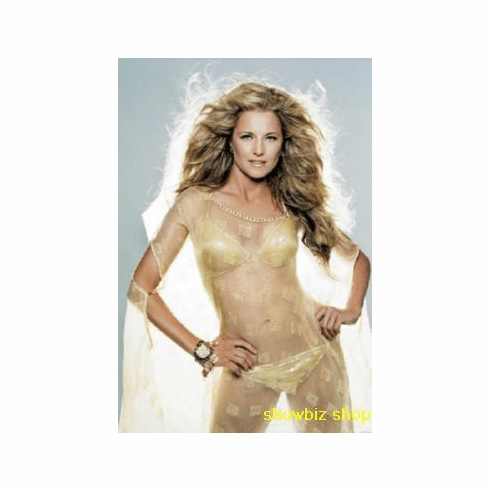Lucy Lawless Poster Sexy Gold Bikini 24inx36in