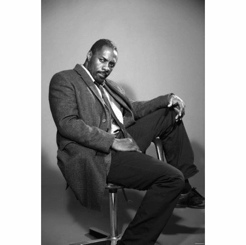 """Luther Black and White Poster 24""""x36"""""""