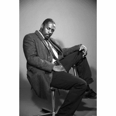 "Luther Black and White Poster 24""x36"""