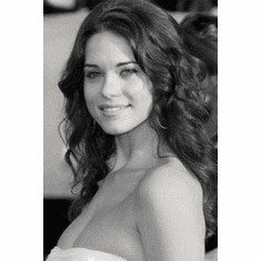 "Lyndsy Fonseca Black and White Poster 24""x36"""