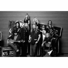 "Lynyrd Skynyrd Black and White Poster 24""x36"""