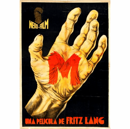 M Fritz Lang 1931 Movie Poster 24inx36in