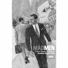 """Mad Men Black and White Poster 24""""x36"""""""