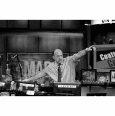 """Mad Money Black and White Poster 24""""x36"""""""