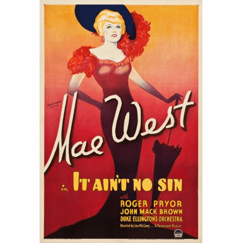 Mae West It Aint No Sin Movie Poster 24in x36in
