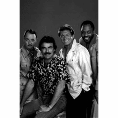 "Magnum Pi Black and White Poster 24""x36"""