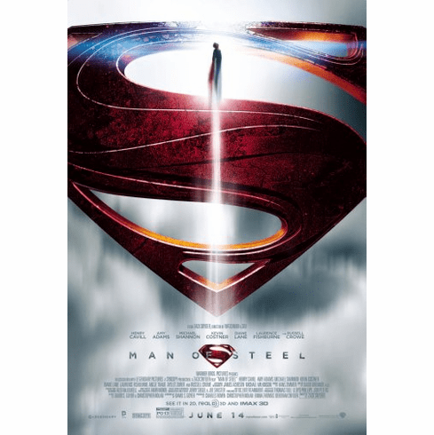Man Of Steel Movie Poster 24inx36in Poster