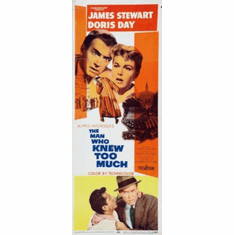Man Who Knew Too Much Insert Movie Poster 14x36