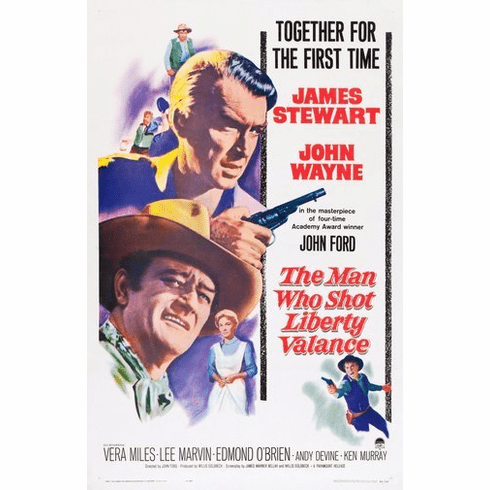 Man Who Shot Liberty Valance Movie Poster 24Inx36In Poster