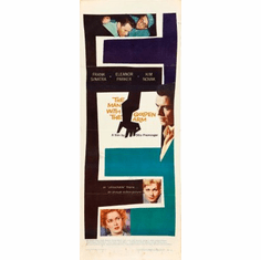 Man With The Golden Arm Movie Poster Insert 14x36 #01