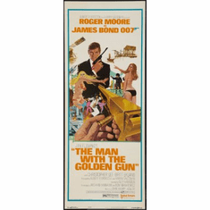 Man With The Golden Gun The Movie Poster Insert 14x36 #01