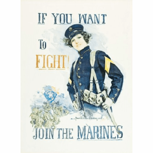 Marine Recruitment Poster 24inx36in