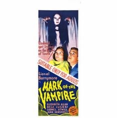 Mark Of The Vampire Insert Movie Poster 14x36
